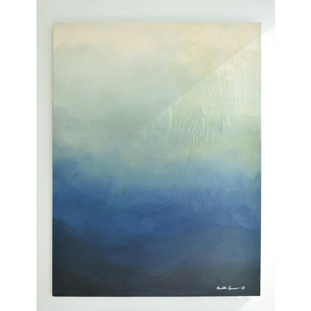 "Abstract blue Ombré - 42"" x 54"" - Image 6 of 6"
