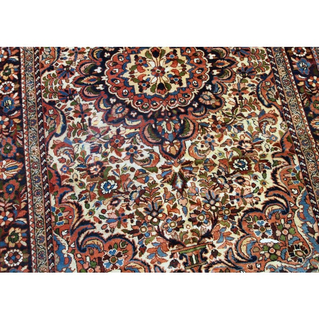 1900 - 1909 1900s, Handmade Antique Persian Sarouk Rug 3.1' X 5.2' For Sale - Image 5 of 12