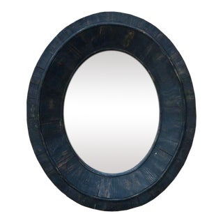 Restoration Hardware Reclaimed Wood Oval Mirror For Sale