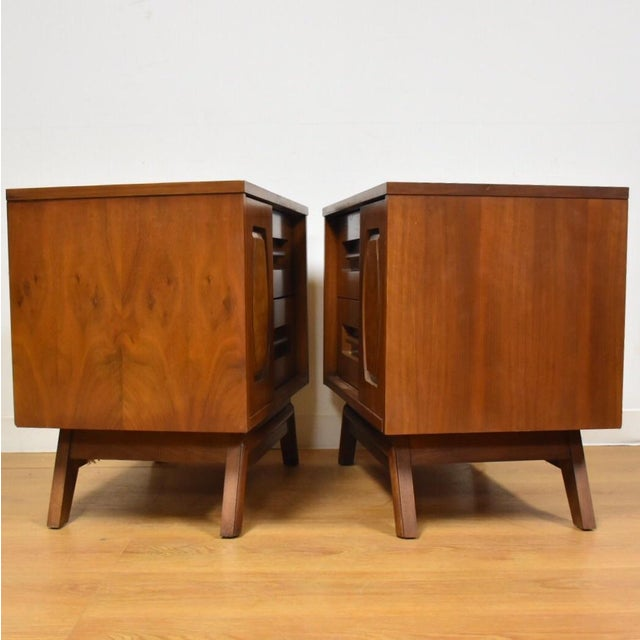 Young Walnut Nightstands - Pair - Image 5 of 10