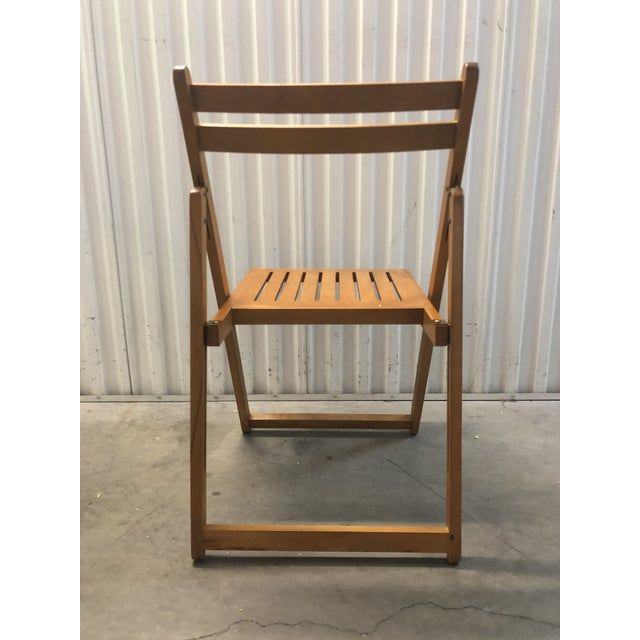 Wood 1960s Vintage Danish Romanian Wood Folding Dining Chair For Sale - Image 7 of 11