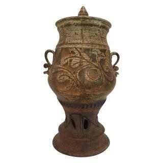 John Schulps Studio Pottery Drink Dispenser For Sale