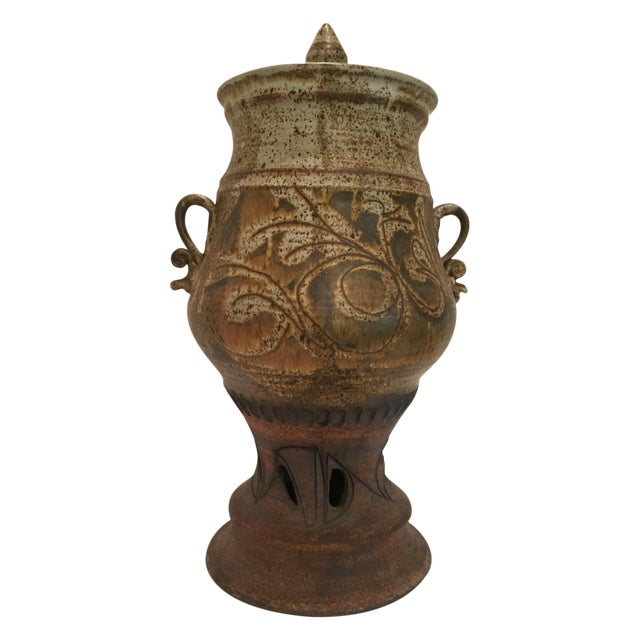 John Schulps Studio Pottery Drink Dispenser For Sale