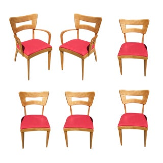 "Heywood Wakefield M154 ""DogBone"" Dining Chairs- Set of 6 For Sale"
