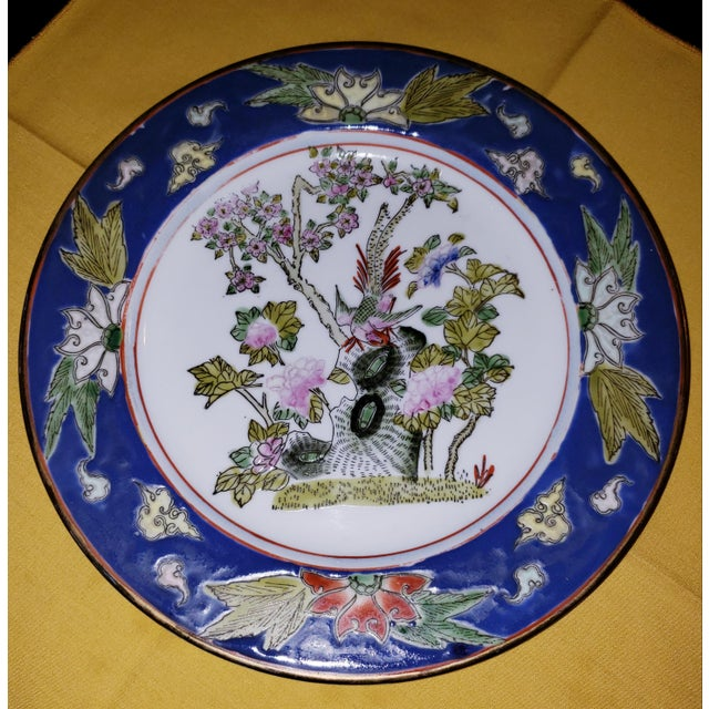 1880s Antique Qing Dynasty Tongzhi Porcelain Plate For Sale - Image 11 of 11