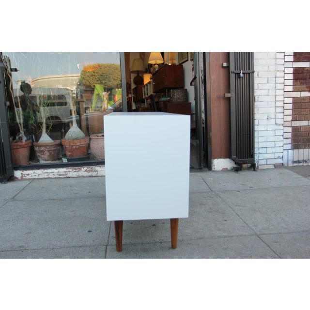 Mid-Century Modern While Lacquered Credenza For Sale - Image 3 of 13