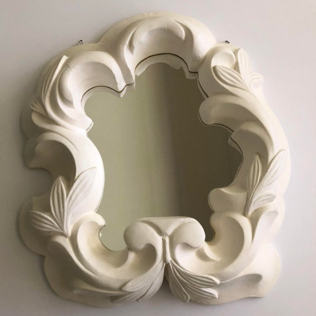 Dorothy Draper Vintage Hollywood Regency Plaster Mirror For Sale - Image 4 of 13