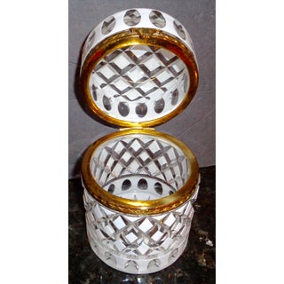Antique Opaline Glass Cut to Clear Crystal Box Preview