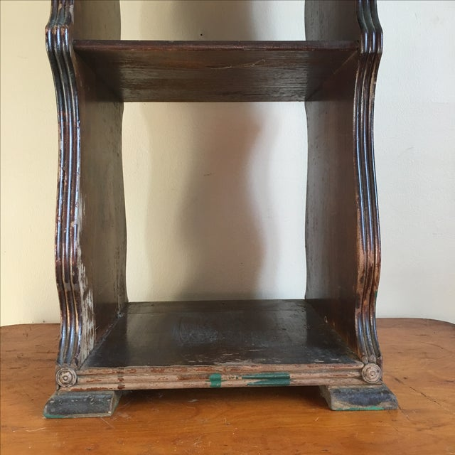 Antique Wooden Telephone Stand For Sale - Image 10 of 10
