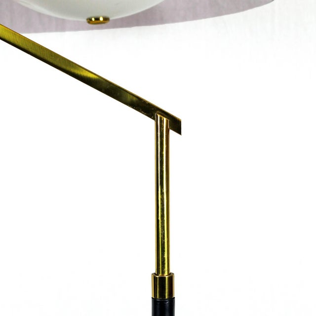 Stilux 1960´s Standing Lamp by Stilux, marble, steel. brass, perspex lampshade - Italy For Sale - Image 4 of 9