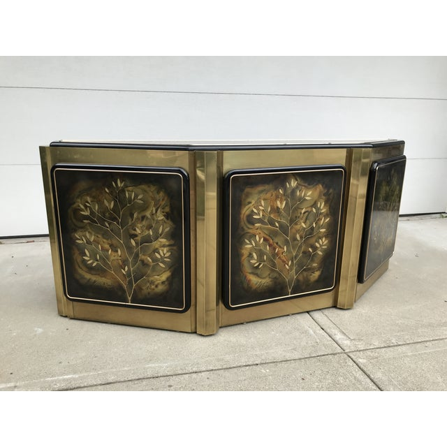 """Metal Mastercraft """"Tree of Life"""" Cabinet by Bernhard Rohne For Sale - Image 7 of 12"""