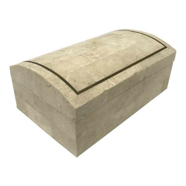 Maitland-Smith Tesselated Stone Box For Sale