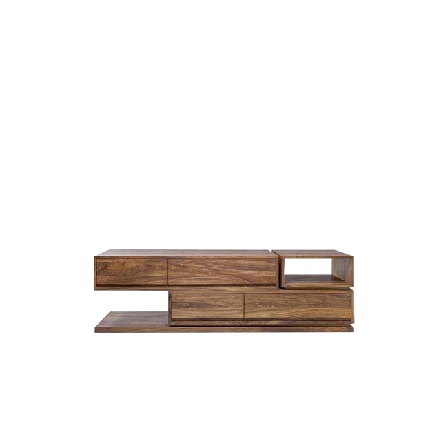 Dd Console in Conacaste Solid Wood For Sale