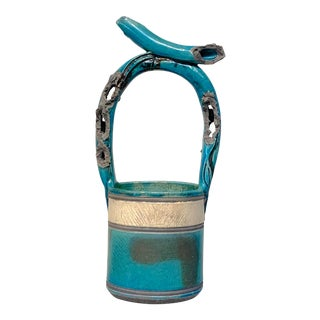 "Vintage Mid-Century Mizu-Baketsu"" Ceramic Well Bucket / Water Paul Vessel Sculpture For Sale"