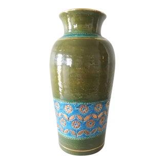 "Vintage Bitossi ""Thai Silk"" Gilded Ceramic Art Vase For Sale"