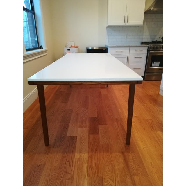 Lacquer West Elm Modern Dining Table For Sale - Image 7 of 7