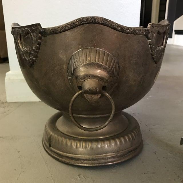 Vintage Silverplate Lion Handle Bowl - Image 3 of 5