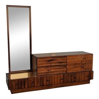 Mid-Century Modern Brutalist Style Dresser For Sale