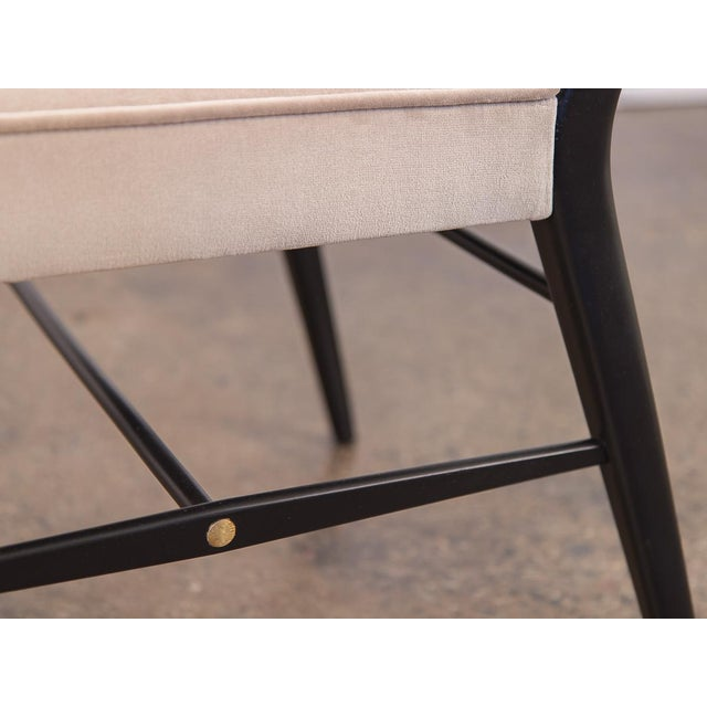 Gray Paul McCobb Ebonized Occasional Chairs - a pair For Sale - Image 8 of 10