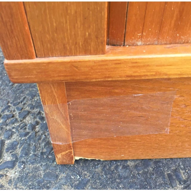 Mid-Century Modern Teak Credenza or Tv Console For Sale - Image 10 of 11