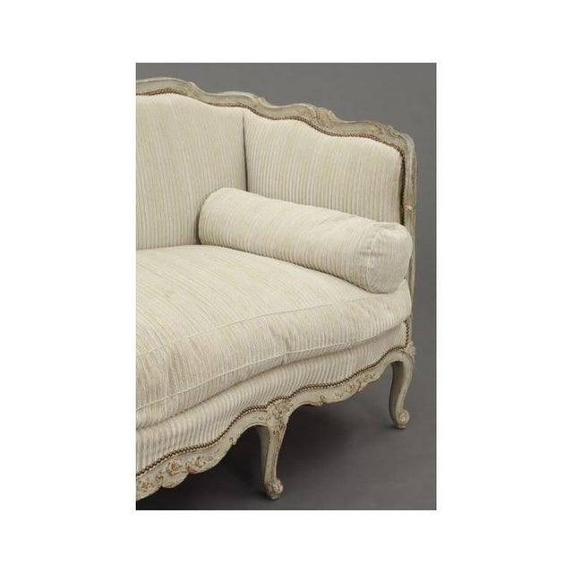 19th century french louis xv carved canape sofa chairish for Louis xv canape sofa