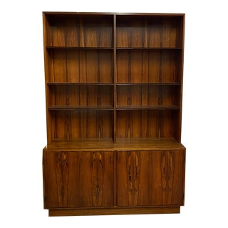 Danish Modern Rosewood Bookcase / Cabinet by Poul Hundevad C.1960s For Sale