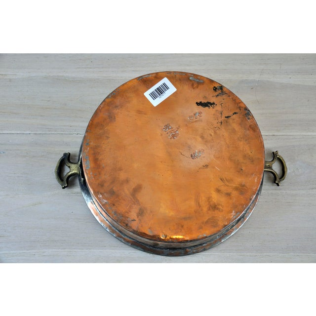 Oval Antique Copper Bowl For Sale - Image 10 of 11