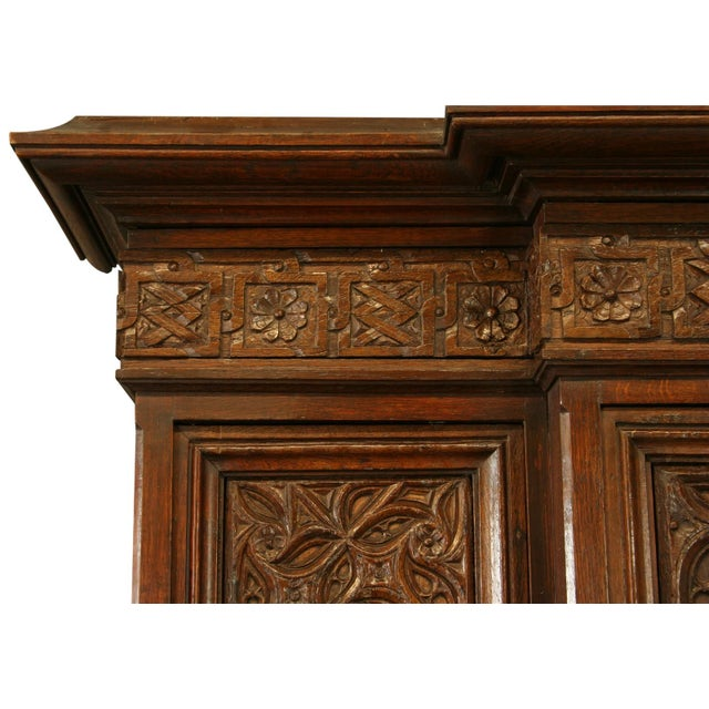 Heavily Carved Antique French Gothic Desk - Image 5 of 8
