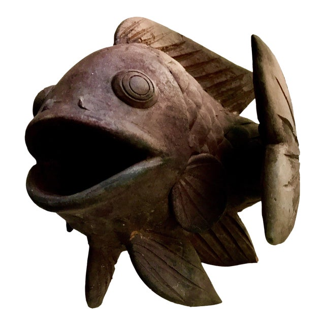 Antique Terracotta Fish Planter - Image 1 of 8