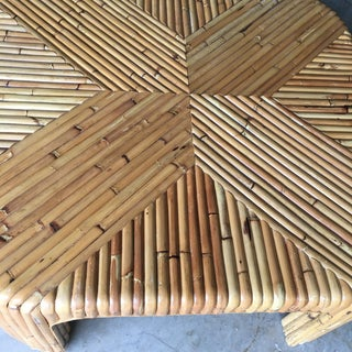 Vintage Split Reed Bamboo / Rattan Cocktail Table Preview