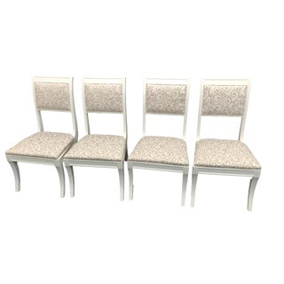 English Traditional Baker Furniture Dining Chairs - Set of 4 For Sale