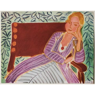 "1946 Henri Matisse, ""Girl in the Persian Dress"" Parisian Lithograph/Pablo Picasso Collection Preview"