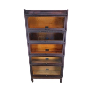 Globe Wernicke Antique Mahogany 5 Stack Barrister Bookcase For Sale