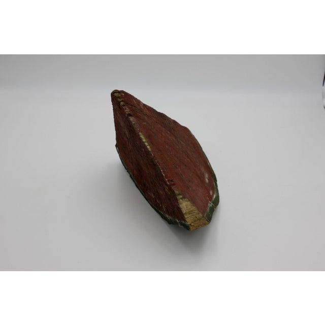 1930s Folk Art Painted Watermelon Sculpture For Sale - Image 5 of 7