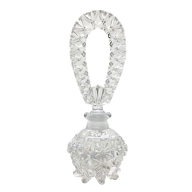 Pressed Glass Perfume Bottle For Sale