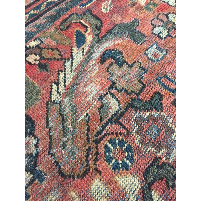 1930s 1930s Vintage Distressed Persian Meshkabad Rug - 10′4″ × 13′6″ For Sale - Image 5 of 13