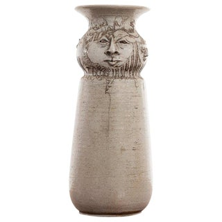 1970s Vintage Schhor Eight Faces Vase For Sale