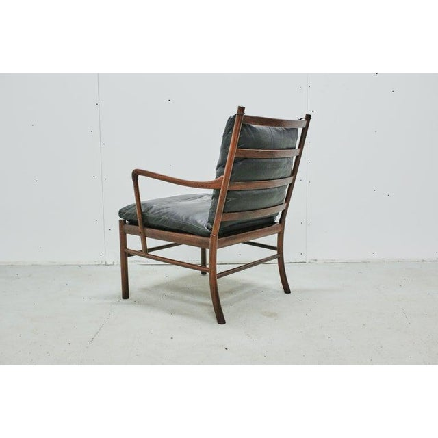 Rosewood Ole Wanscher Colonial Chair, P. Jeppesens Møbelfabrik, Denmark, 1960s For Sale - Image 9 of 13