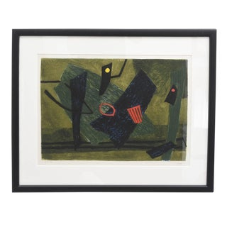 1960s Mid Century Modern Lithograph by Henri Goetz For Sale