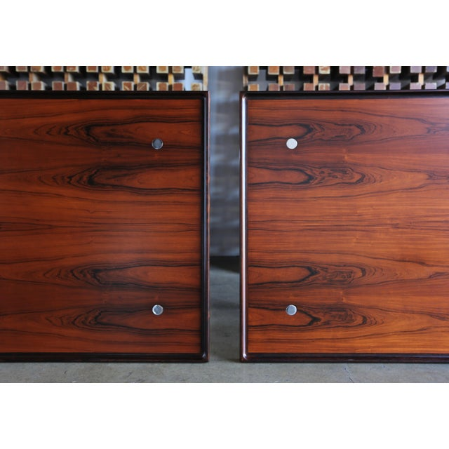 Jens Quistgaard Rare Pair of Rosewood Tables for Nissen Denmark, 1960 For Sale - Image 10 of 13