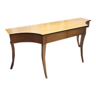 Vintage Mid Century 6' Long Console Desk For Sale