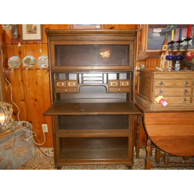 1900s Traditional Gunn Barrister Secretary Bookcase For Sale - Image 10 of 11