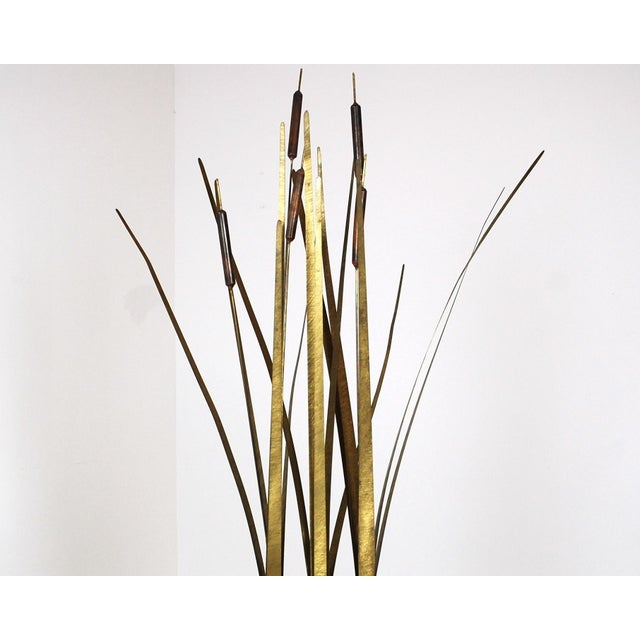 Mid-Century Modern Mid Century Kinetic Sculpture of Cattails For Sale - Image 3 of 6