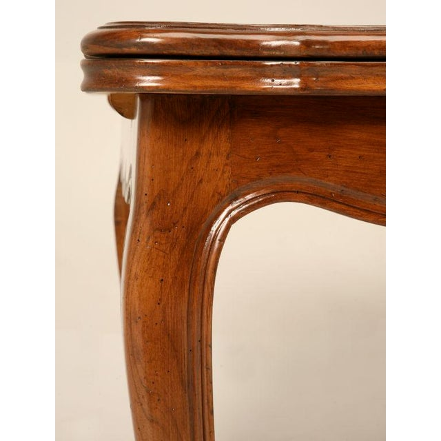Cherry Wood Vintage French Louis XV Cherry Wood Draw Leaf Table For Sale - Image 7 of 11
