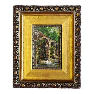 Original Circa 1925 San Juan Capistrano Mission California Oil Painting For Sale
