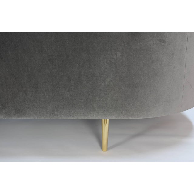 """Brass """"Cloud's Rest"""" Sofa by 20th Century Studios For Sale - Image 7 of 10"""