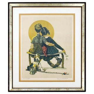 20th Century Framed Modern Illustration A.P. Litho Signed Norman Rockwell, 1926 For Sale