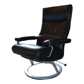 Room and Board Black Leather Recliner For Sale