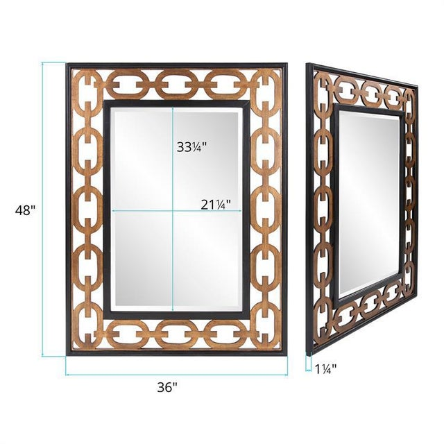 Contemporary Kenneth Ludwig Chicago Linc Rectangle Mirror For Sale - Image 3 of 7