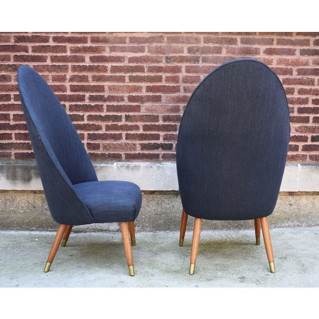 Mid Century Modern Slipper Chairs - a Pair For Sale In Chicago - Image 6 of 10